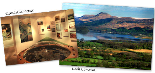 Kilmartin Glen and Loch Lomond are a short drive from Dunoon